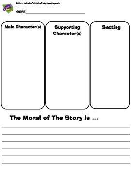 Folk Tales, Tall Tales, Legends & Fables Writing Organizer CCSS