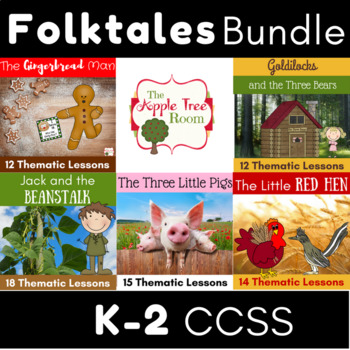 Folktales Activities in a HUGE Bundle with CCSS Reading, Writing, Research, Math