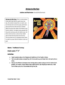 Folklore Book Log with Activities