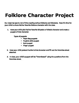 Folklore Character Project