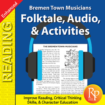 Folktale, Audio, & Activities: Bremen Town Musicians - Enhanced