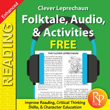 Folktale, Audio, & Activities: The Clever Leprechaun - Enhanced {Freebie}