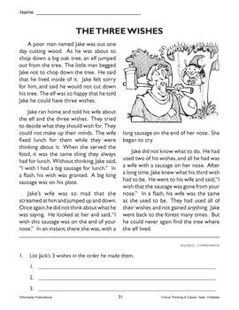 Folktale, Audio, & Activities: Three Wishes - Enhanced