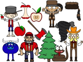 Folktale Characters: Davy Crockett, Pecos Bill, Paul Bunyan & Johnny Appleseed