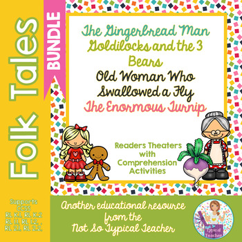 Folk Tale  Readers Theater Bundle  RL1.1, RL1.2, RL2.1, RL