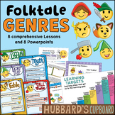 Folktale Genre Lessons & Ppts/ Traditional Literature/ Fairy tales, Fables, etc.
