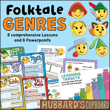 Folktale Genre Activities  - Genre Worksheets  / Traditional Literature / Ppts.