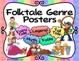 Folktale Genres Poster Set FREEBIE! Fairy Tale, Tall Tale, Fable, Myth, & Legend