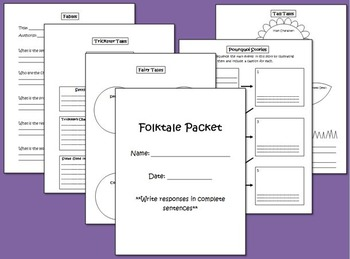 Folktale Packet Graphic Organizers