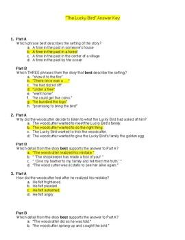 Folktale Part A Part B Comprehension Test