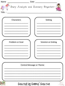 Folktale Story Analysis and Summary Organizer