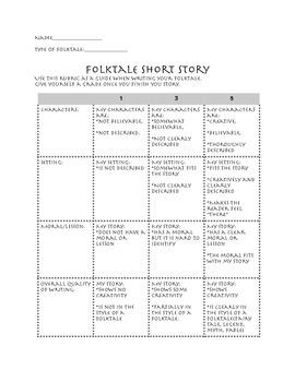Folktale Student Rubric