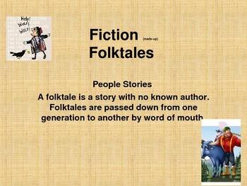 Folktale Sub Genres PowerPoint