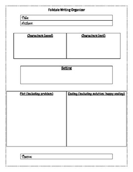 Folktale Writing Organizer