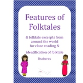Folktales Bundle: Features of Folktales, Tale Excerpts & Moral Graphic Organizer