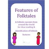 Folktales Bundle: Features of Folktales, Tale Excerpts & Moral Graphic Organizer