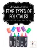 Folktales: Characteristics of Legends, Myths, Tall Tales, Fables, & Fairy Tales