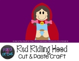 Folktales Cut and Paste Craft Template - Red Riding Hood