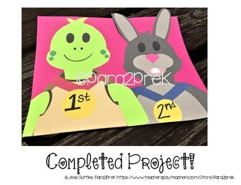 Folktales Cut and Paste Craft Template - Tortoise and the Hare