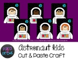 Space Cut and Paste Craft Template - Astronaut Kids