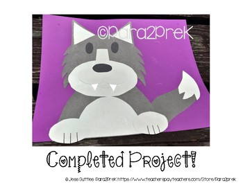 Folktales Cut and Paste Template - Big Bad Wolf