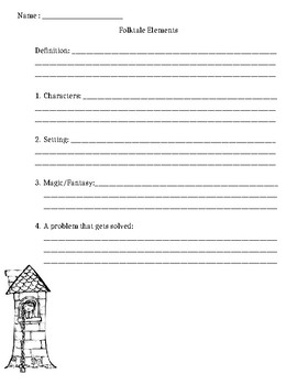 Folktales Elements Worksheet