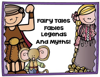 Folktales (Fairy, Myth, Legends, Fables) Power Point and Assessment