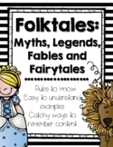 Folktales, Fairy Tales and Fables [Anchor Charts]