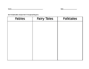 Folktales, Fairy Tales, and Fables Sort