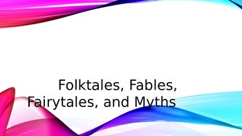 Folktales, Fairy tales, Fables, and Myths Test Prep