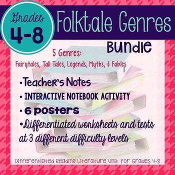 Folktales: Fairytales, Tall Tales, Fables, Legends, & Myths