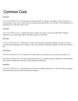 Folktales PBL, Author a Children's Book, Common Core Project folklore folk tales