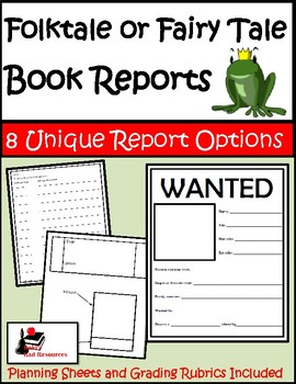Folktales and Fairy Tales - Book Reports Package - 8 Unique Options