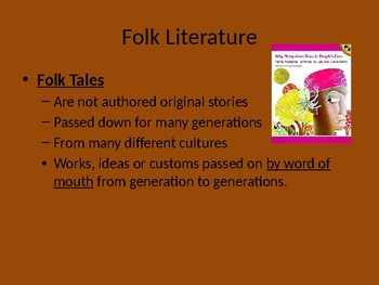 Folktales legends myth Powerpoint