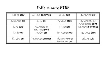 Folle Minute | Verb Conjugation Game