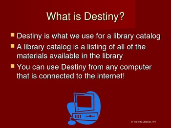 Follett Destiny Library Catalog How-To PowerPoint Presentation Intro