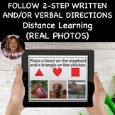 Follow 2-Step Written and/or Verbal Directions - #Distance Learning Speech