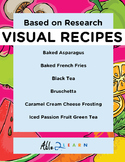 Follow Along Visual Recipes Simple Sentences & Comprehension Sheets #4