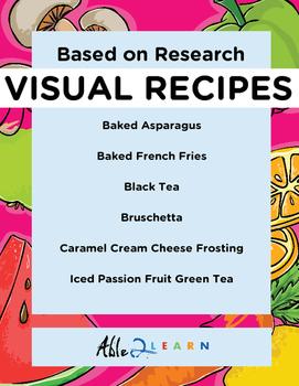 Follow Along Visual Recipes Simple Sentences & Comprehension Sheets #4