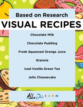 Follow Along Visual Recipes Simple Sentences & Comprehension Sheets #6