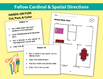 Follow Cardinal & Spatial Directions: House Floor Plan (Chapter Slice)