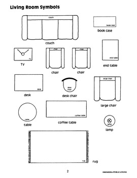 Follow Cardinal & Spatial Directions: Living Room Floor Plan (Chapter Slice)