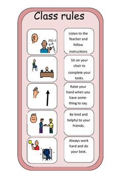 Social Story - Following Class Rules