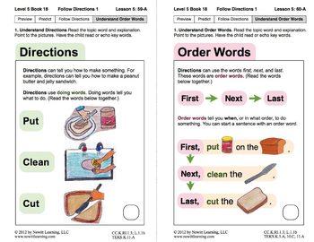 Follow Directions 1: Lesson 5, Book 18 (Newitt Nonfiction Series)