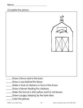Follow Directions: Barn