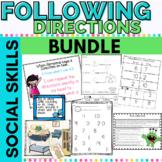 Follow Directions Activity Bundle for K-2