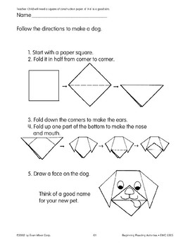 Follow Directions: Make a Dog