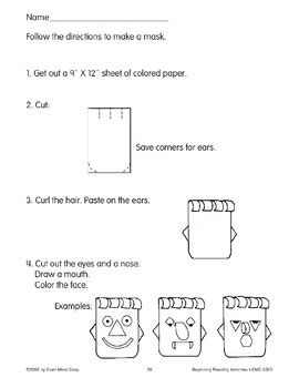 Follow Directions: Make a Mask