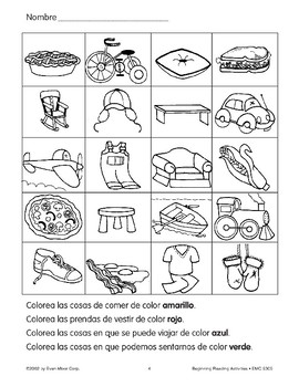 Follow Directions: Pie/Bicycle/Pillow/Sandwich