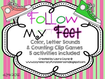 Follow My Feet: Counting, Color and Sound Games
